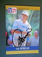 Gil Morgan - 1990 Proset Autographed PGA Golf card # 51 - Tour card