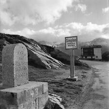 COL DU SIMPLON c. 1960 -Borne Panneau Vue sur l'Italie- Négatif 6 x 6 - ITAL 609