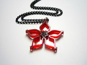 Kingdom Hearts Wayfinder best friends necklaces Laser cut mirror red acrylic