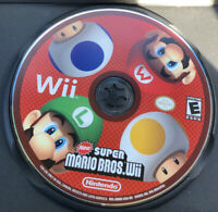 New Super Mario Bros. Wii (Nintendo Wii, 2009) Disc Only Pre-owned
