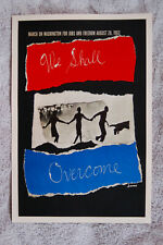 March on Washington Political poster 1963 We Shall Overcome___