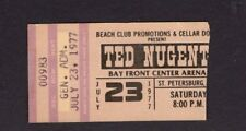 1977 Ted Nugent concert ticket stub St. Petersburg FL Cat Scratch Fever