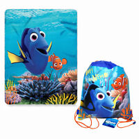 "Disney Finding Dory Nemo Fleece Throw Blanket 45"" x 60"" + Sling Backpack NEW"