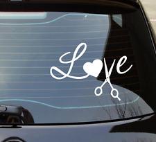 Love Heart Hair Dresser Stylist Scissors  - Car- Laptop - Decal Vinyl Sticker