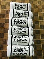 6 ROLLS (30 PCS) BULK PACK LARGE COTTON DISH CLOTHS IDEAL FOR CLEAN & WASH DISH