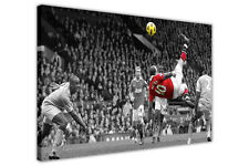 MANCHESTER UNITED WAYNE ROONEY FOOTBALL PRINTS CANVAS WALL ART FRAMED PICTURES
