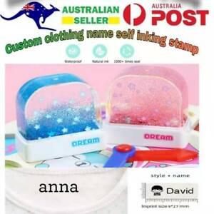 Children Student Uniform Custom Waterproof Clothing Name Seal Stamp AU Stock