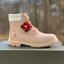 "Timberland Women's Premium 6"" Boots- Limited Holiday Edition - Light Pink Nubuck"