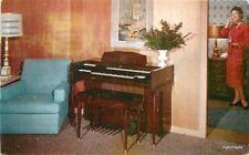 1957 Studio City Conn Minuet Organ Advertising  Mid Century Furniture Postcard