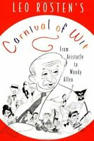 Carnival of Wit by Rosten, Leo Paperback Book The Fast Free Shipping