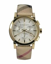 Burberry Watch BU9752 The City Chronograph White Dial Haymarket Check Unisex