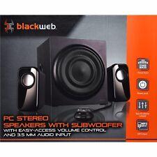 "Blackweb 2.1 Pc Stereo Speakers W/ Easy Access Volume Control (Bwa17Ho011)â""¢"