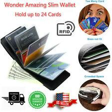 Wonder Amazing Slim Wallet Leather Men Women RFID Blocking Credit Card Holder