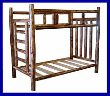 Classic Cedar Rustic Log Bunk Bed - Queen/Queen