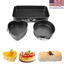 Cake Baking Pan Set Non Stick Kitchen Springform Pan Oven Bakeware Tray Set US
