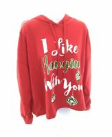Queen Bees Hooded Crop Top Womens Red Christmas Ornament