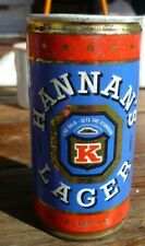 Collectable beer cans - Hannan's Lager 370ml crimp steel can