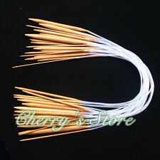 "18pairs 18sizes 24"" 60cm Circular carbonized Bamboo  Knitting Needles"