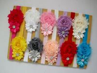 10Pcs Kids Girl Baby Chiffon Toddler Flower Bow Headband Hair Band Headwear Hot