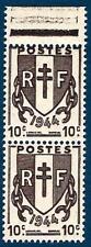 VARIÉTÉ  N°:670 q (timbre inférieur plus petit tenant au normal) chaines brisées
