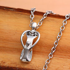 New Sterling Silver Mother and Child Figurine Pendant Necklace FAST FREE SHIP