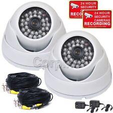 2x Dome Cameras w/ SONY EFFIO CCD 600TVL IR Outdoor Day Night CCTV Security wqz