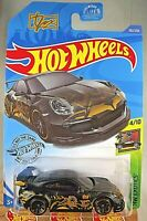 2020 Hot Wheels #162 HW Exotics 4/10 PORSCHE 911 GT3 RS Black w/Black J5 Spokes