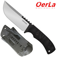 Oerla Fixed Blade Outdoor Duty Straight Field Knife G10 Handle and Kydex Sheath