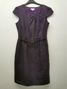 Ladies Monsoon Dress. Size 12. Purple. Wool Blend. Smart / Office Wear! VGC
