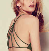 NEW Free People Intimately Seamless Strappy Back Bra in Army Sz XS/S-M/L $26.49