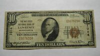 $10 1929 Lawrence Massachusetts MA National Currency Bank Note Bill! Ch. #1014