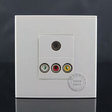 Wall Face Plate 3RCA AV + TV Cable Jack Outlet Socket Assorted Panel Faceplate