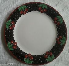 Mary Engelbreit Cherry Cameo Ceramic Dinner Plate