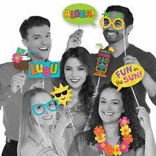 Hawaiian Tema Cabina Fotos Selfie Props Playa Tropical Fiesta Cumpleaños