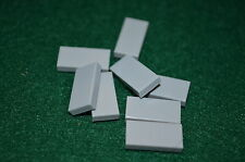 (8) LIGHT GRAY 1x2 Smooth Finishing Tile Brick Bricks  ~ Lego  ~ NEW