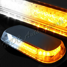 34 LED White & Amber Roof Top Emergency Hazard Warning Flash Strobe Light Bar