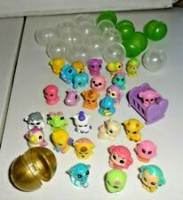 Lot Soft Squinkies Mini Animal People Toy Figures w Bubble Cases gold ball