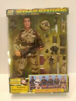 """World Peacekeepers 12"""" Poseable Action Figure Desert Infantry Power Team NEW"""