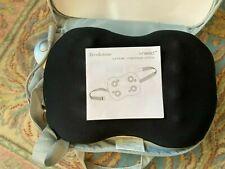 Brookstone I-Need Portable Black Lumbar Massage Pillow Never Used