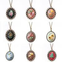DIY EMBROIDERY FLOWER WOMEN CHAIN NECKLACE SEWING HANDMADE JEWELRY GIFT OPULENT