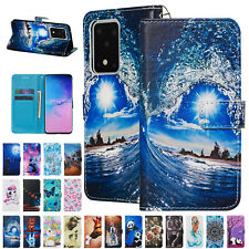 For Samsung S20 Ultra S20 + Cute Pattern Leather Card Slot Stand Flip Case Cover