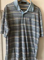 Bugatchi Uomo Men's TPC Sawgrass Short Sleeve Polo Shirt Size LRge