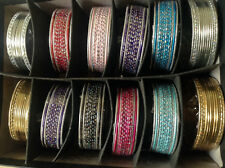 144 Bollywood Indian Belly Dance Metal Bangles Braclets in Colors 2.8 US SELLER