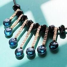 Luxuriös Vintage Stil Smaragd Grüner Kragen Tropfen Leder Halskette N413