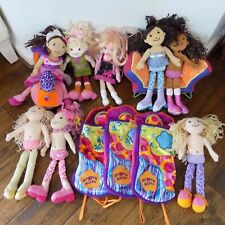 Lot 7 Groovy Girls Dolls Furniture Couch Scooter 3 Sleeping Bags 1 Bonus Doll
