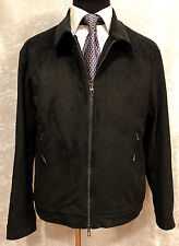 NEW LORO PIANA MEN'S BLACK SUEDE LUXURY JACKET  ~ SIZE: MEDIUM ~ $4.6K