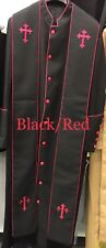 Clergy Robe Clergy wear Minister robe pastor robe cassock (optional Stole)