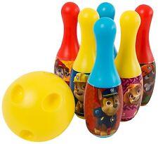 NEW PAW PATROL MINI BOWLING SKITTLES TOY GAME SET - BOYS KIDS PRESENT GIFT