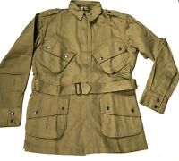 WWII US AIRBORNE PARATROOPER M1942 M42 UNREINFORCED JUMP JACKET-MEDIUM