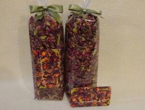2pk Potpourri Juniper-Uva Ursi Leaves-Roses-Lavender-Yield 48ozs NO FILLER-Rare